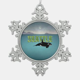 T-STÜCK Seattle Schneeflocken Zinn-Ornament