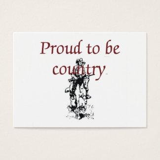 T-STÜCK stolz, Land zu sein Visitenkarte