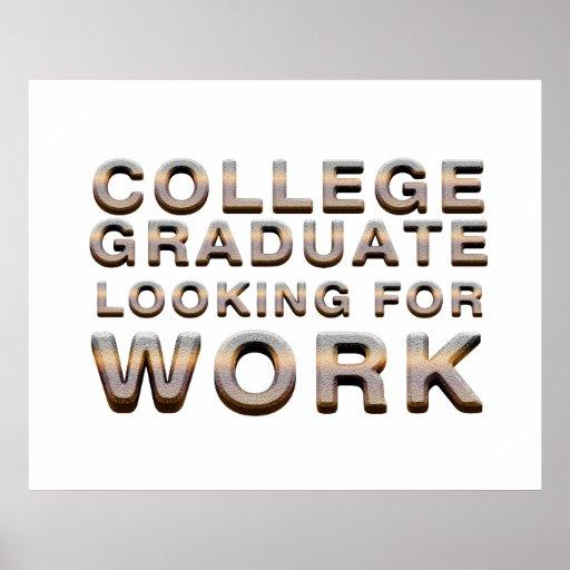 T-STÜCK Uni-graduierte suchende Arbeit Posterdrucke