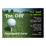 T-Stück weg von der Golf-Ruhestands-Party 12,7 X 17,8 Cm Einladungskarte