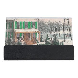 T-STÜCK Winter-Poesie Schreibtisch-Visitenkartenhalter