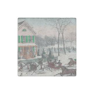 T-STÜCK Winter-Poesie Steinmagnet