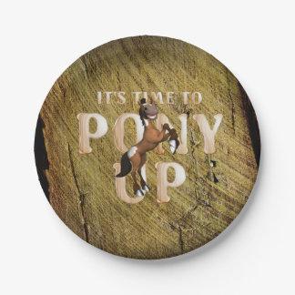 T-STÜCK Zeit zum Pony oben Pappteller