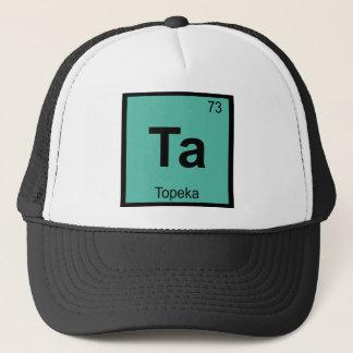 Ta - Chemie-Periodensystem-Symbol Topeka Kansas Truckerkappe