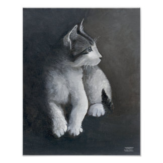 Tabby-Kätzchen Poster