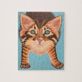 Tabby-Kätzchen-Puzzlespiel 8 x 10 Puzzle