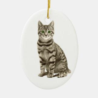 Tabby-Katze Keramik Ornament