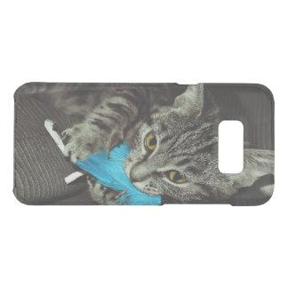 Tabby-Katze mit Feder durch Shirley Taylor Get Uncommon Samsung Galaxy S8 Plus Hülle