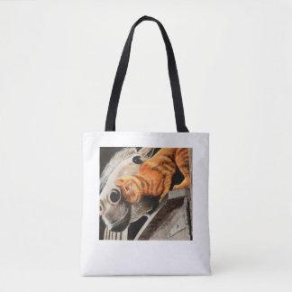 Tabby-Katze und Pferd Tasche