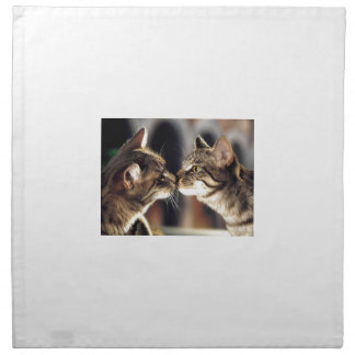 Tabby-Katzen-Reflexionen Stoffserviette