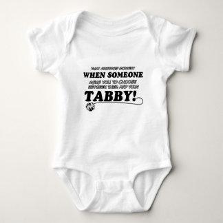 Tabbyentwürfe für Katzenliebhaber Baby Strampler