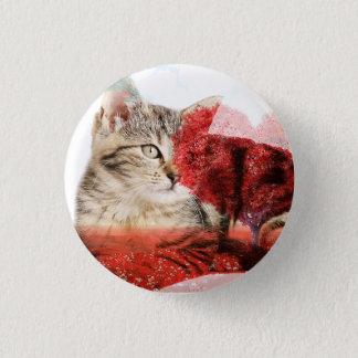Tabbykatzen-Abzeichen Runder Button 3,2 Cm