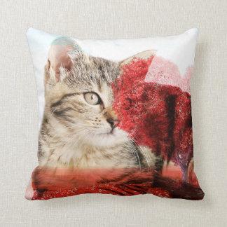 Tabbykatzenkissen Kissen