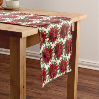 Tabelle Läufer-Weihnachtenrote Rose u. Stechpalme Kurzer Tischläufer