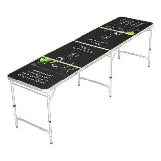 Tabelle pong Klingeln Buddha-Zitats 3 Beer Pong Tisch