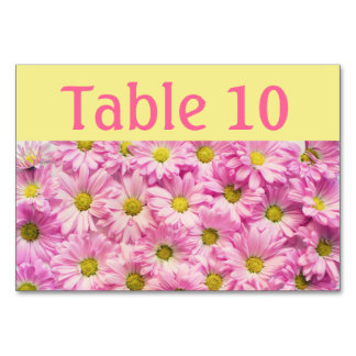 Tabellen-Karte - rosa Gerbera-Gänseblümchen Karte