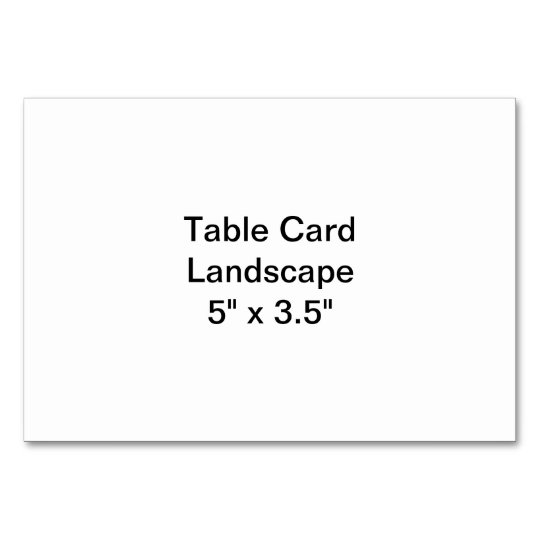 "Horizontal 8.89cm x 5"" Tablecard, Standard"