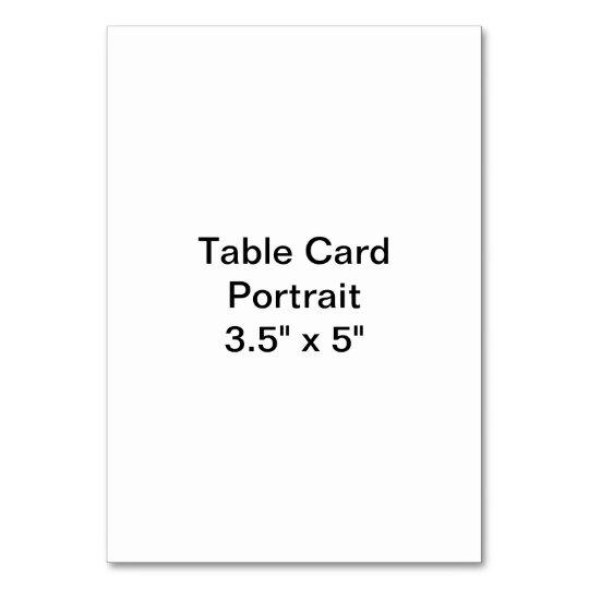 "Vertikal 8.89cm x 5"" Tablecard, Standard"