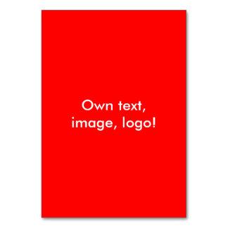 Tabellen-Karten-uni Rot Karte