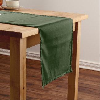 Tabellen-Läufer-uni Grün-Medium Mittelgroßer Tischläufer