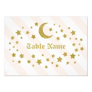 Tabellen-NamensGlitter-Sterne Karte
