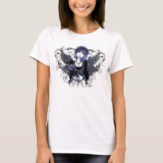 Tabitha viktorianischer Engels-Herz-Rolle-Behälter T-Shirt