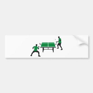 table tennis autoaufkleber