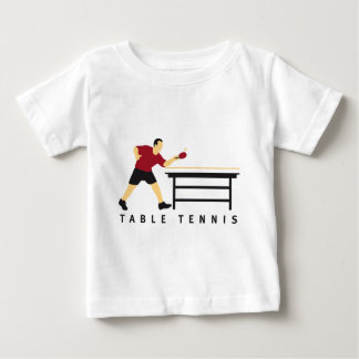 Table tennis baby t-shirt