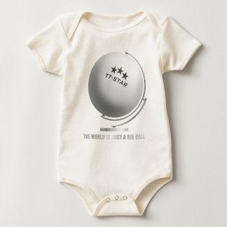 Table tennis globe baby strampler