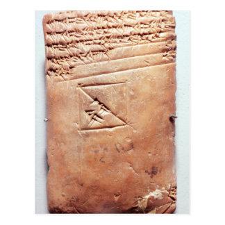 Tablette mit keilförmigem Skript, c.1830-1530 BC Postkarte
