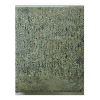 Tablette mit keilförmigem Skript Postkarte