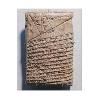 Tablette mit vierzehn Linien eines mathematischen  Galerie Gefaltete Leinwand