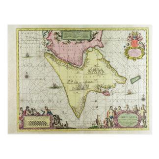 Tabula Magellanica, Quatierrae Del Fuego, Platte Postkarte