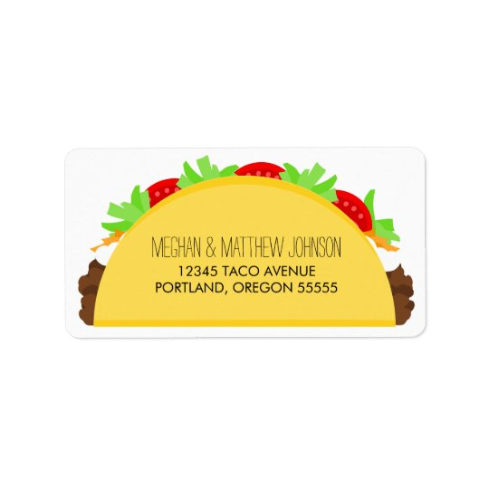 Taco Adressaufkleber
