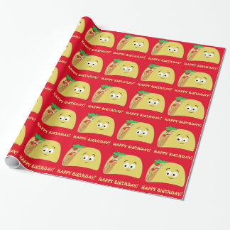 Taco-Cartoon-alles Gute zum Geburtstag Geschenkpapier