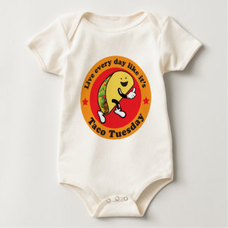 Taco Dienstag jeden Tag Baby Strampler