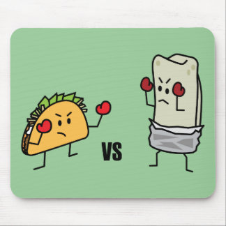 Taco gegen Burrito Mousepad
