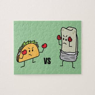 Taco gegen Burrito Puzzle