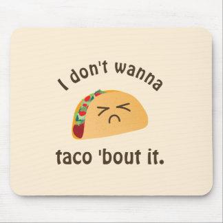 Taco-'Kampf es lustiger Mousepad