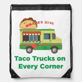 Taco-LKWs auf jeder Ecke: Tasche Hillary 2016 Turnbeutel