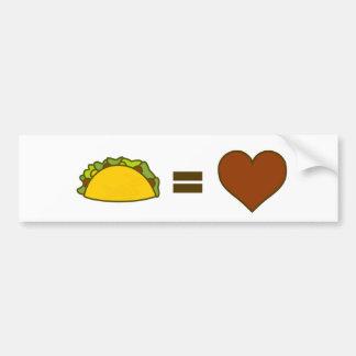 Taco=Love Autoaufkleber