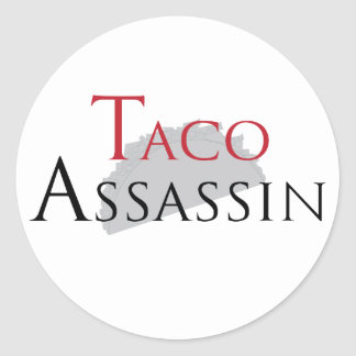 Taco-Meuchelmörder-Aufkleber Runder Aufkleber