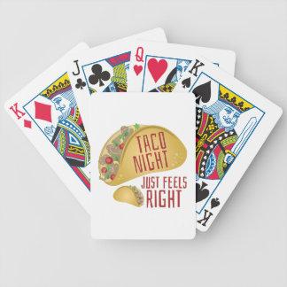 Taco-Nacht Poker Karten