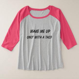 Taco-Plus-Size 3/4 Hülse-T-Shirt Große Größe Raglan T-Shirt