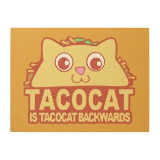 Tacocat rückwärts II Holzwanddeko
