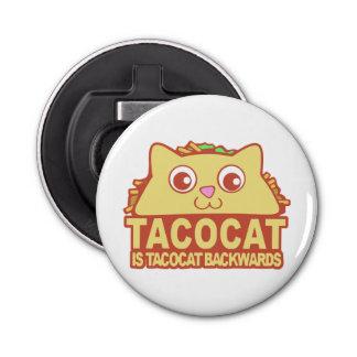 Tacocat rückwärts II Runder Flaschenöffner