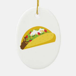 Tacos Ovales Keramik Ornament