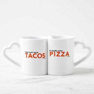 Tacos + Pizza-Tassen Liebestassen