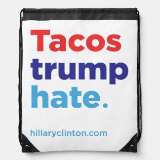 Tacos-Trumpf-Hass: Hillary Drawstringrucksack 2016 Sportbeutel