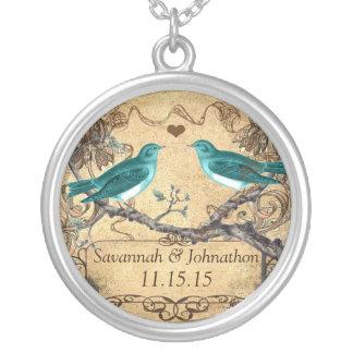 Tadellose aquamarine romantische rustikale versilberte kette